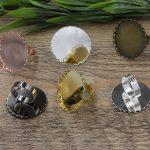 50pcs Cabochon 25mm,30mm Lace Pad ring blank Cameo Tray,AntiqueBronze/Gold/Silver Ring setting,<b>Handmade</b> Zakka <b>jewelry</b> Finding
