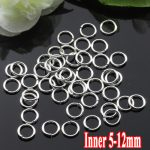 500G/PIECE Wholesale Rhodium Plated IRON Based 5/6/8/10/12mm Closed Split Ring Accessories for <b>Jewelry</b> <b>Making</b>