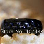 Free Shipping YGK <b>JEWELRY</b> Hot Sales 8MM Black/Blue Carbon Fiber His/Her Black Dome Tungsten Carbide <b>Wedding</b> Ring
