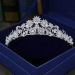 Gorgeous Vintage Prong Setting Clear Cubic Zircon <b>Wedding</b> Tiara CZ Bridal Queen Princess Pageant Royal Party Crown Women <b>Jewelry</b>