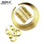 MANILAI Women <b>Fashion</b> <b>Jewelry</b> Set Multilayer Metal Wire Chokers Necklace Bangle Earrings Sets Indian <b>Jewelry</b> Sets Trendy Gift
