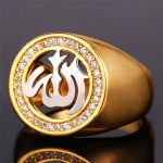 Muslim Allah Ring For Men Women <b>Jewelry</b> Gold Color New <b>Fashion</b> <b>Jewelry</b> AAA+ Cubic Zirconia Ring Islam R1136