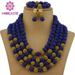 Amazing Navy Blue Nigerian Wedding Coral Beads <b>Jewelry</b> Set <b>Handmade</b> Carved Coral Bridal <b>Jewelry</b> Set 2017 Free Shipping CNR006