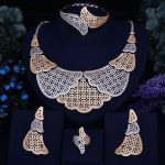 GODKI Luxury Leaf Feather Women Nigerian Wedding Naija Bride Cubic Zirconia <b>Necklace</b> Dubai 4PCS <b>Jewelry</b> Set Jewellery Addiction