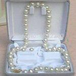 8-9mm White freshwater pearl necklace earring set DIY women <b>jewelry</b> handmade <b>making</b> design