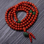 Fashion 108pcs 6mm Red Southern Bracelet with Green Jade Shower Women Gift <b>Jewelry</b> Several String Bracelet NH008