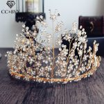 CC Tiaras And Crowns Luxury CZ Crystal Beads Pageant Engagement <b>Wedding</b> Hair Accessories For Bridal <b>Jewelry</b> Forest Style 18001