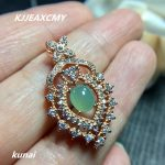 KJJEAXCMY boutique <b>jewelry</b>,Colorful <b>jewelry</b> 925 <b>silver</b> inlaid natural jade pendant factory direct sales