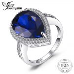 JewelryPalace Luxury Pear Cut 7ct Created Blue Sapphire Solid 925 <b>Sterling</b> <b>Silver</b> Engagement Ring Fine <b>Jewelry</b> For Women