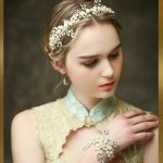 Gold pearl tiara luxury bridal headband <b>handmade</b> headdress wholesale pearl <b>jewelry</b> wedding crowns hair accessories hair vine