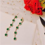 Long Emerald Drop Earrings For Women S925 <b>Sterling</b> <b>Silver</b> Needles Green Natural Gemstone Luxury Banquet Brincos Fine <b>Jewelry</b>