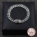 S925 <b>sterling</b> <b>silver</b> bracelets personality fashion classic <b>jewelry</b> vintage cross couple punk hip-hop style hot models lover gift