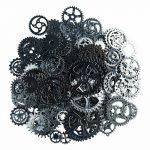 About 100pcs/lot DIY <b>jewelry</b> <b>Making</b> Vintage Metal Mixed Gears Steampunk Gear Pendant Charms Bronze Bracelet Accessories