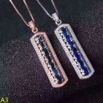 KJJEAXCMY boutique <b>jewelry</b>,925 pure <b>silver</b> inlaid natural sapphire, gold, <b>silver</b>, two color female Pendant + necklace <b>jewelry</b> je