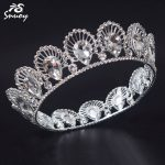 Snuoy 2018 European Luxury Full Round Circle Tiara & Crowns Women <b>Wedding</b> Hair <b>Jewelry</b> Tiara Crown <b>Wedding</b> Veil Hair Accessories