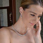Bella Fashion Mini Round Cubic Zircon Bridal <b>Jewelry</b> Set Wedding <b>Necklace</b> Earrings Set For Bride & Bridesmaid Party <b>Jewelry</b> Gift