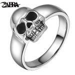 ZABRA Real 925 Sterling Silver Punk Skull Ring Men Vintage Rings For Men Women Lovers <b>Fashion</b> Cool <b>Jewelry</b> Anillos De Plata 925