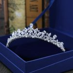 New Full AAA Clear Cubic Zirconia Sparking Brides <b>Wedding</b> Crown Tiaras Marquise-Cut Zircon CZ Princess Prom Coronet Hair <b>Jewelry</b>