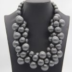 New Design Fashion African Beads Silver Statement Necklace gift Women Wedding Party <b>Jewelry</b> <b>Accessories</b>