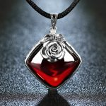 EDI 925 Sterling <b>Silver</b> Garnet Pendant <b>Necklace</b> Retro <b>Silver</b> Flower <b>Necklace</b> for Women