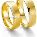custom tailor <b>handmade</b> yellow Gold Plating titanium fashion <b>jewelry</b> his and hers engagement wedding rings sets for couples