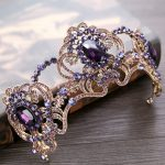 New Vintage Purple Crystal <b>Wedding</b> tiara Bride Crown Hair <b>Jewelry</b> Europe Style Queen Crown <b>Wedding</b> Hair Accessories