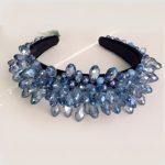 Custom Baroque Crown Tiaras Crystal Beads Shiny Water Drop Hair Bands Wide Headbands <b>Wedding</b> Hair <b>Jewelry</b> Party Hair Accessories