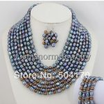 Latest Fashion Baroque Pearl Jewelry Set African Wedding Pearl Jewelry Set Nigerian Wedding Beads Jewelry Set FP107
