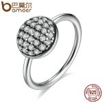 BAMOER Authentic 100% 925 Sterling Silver Dazzling Droplet, Clear CZ Rings Women <b>Fashion</b> Silver <b>Jewelry</b> S925 PA7602