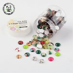 10×3.5~4mm Mixed Color Half Round Dome Glass Cabochons for <b>Jewelry</b> <b>Making</b> DIY ,about 200pcs/box