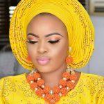 Splendid Nigerian Wedding Coral Statement <b>Jewelry</b> Set <b>Handmade</b> Coral Beaded African Necklace Bracelet Earrings Set Gold CNR079