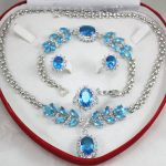 Prett Lovely Women's Wedding shipping set 0034 zircon necklace, earing, bracelet , ring set