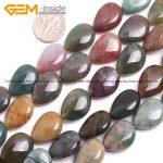 Gem-inside Natural Flat Drop Teardrop Indian Agates Stone Beads For <b>Jewelry</b> <b>Making</b> 13X18mm 15inches DIY Jewellery
