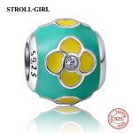 2018 New Fit Authentic pandora Bracelet silver 925 <b>Antique</b> color Enamel Charms Beads CZ stone DIY <b>Jewelry</b> Making for women Gifts