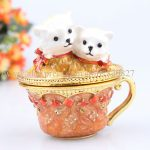 Cupcake <b>Jewelry</b> Trinket Box with 2 Cats Home Decorations Gift crafts excellent gift cupcake Casket <b>Jewelry</b> Box Birthday Gift