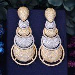 GODKI 70mm Luxury AAA Cubic Zirconia African <b>Wedding</b> Women Dress Earring Fashion <b>Jewelry</b>