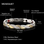 Meaeguet Twisted Magnet Health Bracelets & Bangles 316L Stainless Steel Casual <b>Jewelry</b> H Power Bracelet For Women