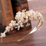 Luxurious <b>Handmade</b> Pearl Wedding Bridla Flower Tiara Headbands Queen King Crown Hair Ornaments Bride Head <b>Jewelry</b> Accessories