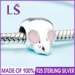 2018 Spring New Real 925 <b>Silver</b> CUTE MOUSE CHARM Fit Original Bracelets&<b>Necklace</b> DIY Gift.Women Wedding Jewelry Beads.XZ