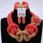<b>Handmade</b> Dubai <b>Jewelry</b> Sets Gold Red Bridal Necklace Set Indian Costume Jewellery Sets For Brides Women Free Shipping 2018 New
