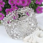 Bella Fashion Love Heart Elastic Bridal Bracelets & Bangles Austrian Crystal <b>Wedding</b> Bracelet For Bride Bridesmaid Party <b>Jewelry</b>