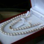 """Hot!8mm White shell round beads necklace earring 18 """"women fashion beautiful <b>jewelry</b> <b>making</b> design"""