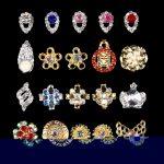 100pcs NAIL CHARMS 3D CHARM <b>DECORATION</b> RHINESTONE Diamond <b>Jewellery</b> Gems Metal Dangling 3201-3220