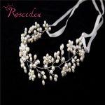 Women Head <b>Jewelry</b> Noivas Handmade Retro Simulated Pearl Wedding Hair Accessories High-quality Wedding Beads Hairband RE287