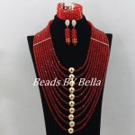 Dubai 2017 New <b>Necklace</b> <b>Jewelry</b> Set Red African <b>Jewelry</b> Set Gold Nigerian Wedding African Beads <b>Jewelry</b> Set Free Shipping ABF176