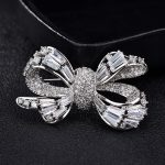 Bowknot Cubic Zirconia Vintage Brooch Rhinestone for Women Suit Collar Scarf <b>Handmade</b> Brooch Pin Fashioin <b>Jewelry</b> X388