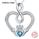 2018 new design silver 925 two hands forming a love heart chain pendant necklace with CZ diy fashion <b>jewelry</b> <b>making</b> for lover
