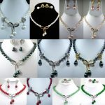 j003333 11color-white/pink/black/red/green pearl/shell/ <b>necklac</b> pendant clip earring can choose (C0405)