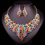 Gorgeous Rhinestones Statement Necklace Earring Bridal <b>Jewelry</b> set Wedding Party Accessories drop shipping <b>supplies</b> for <b>jewelry</b>