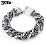 ZABRA Plant Totem Genuine 925 <b>Silver</b> <b>Bracelets</b> Punk Rock Vintage Heavy Sterling <b>Silver</b> <b>Bracelet</b> Men Luxury Male Biker Jewelry